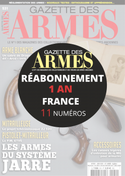 Réabonnement GAZETTE DES ARMES 1 an France