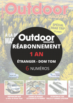 Réabonnement OUTDOOR 4X4 1 AN ETRANGER ET DOM TOM