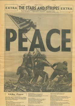 THE STARS AND STRIPES - AUGUST 15 AND MAY 8 1945 (2 JOURNAUX)